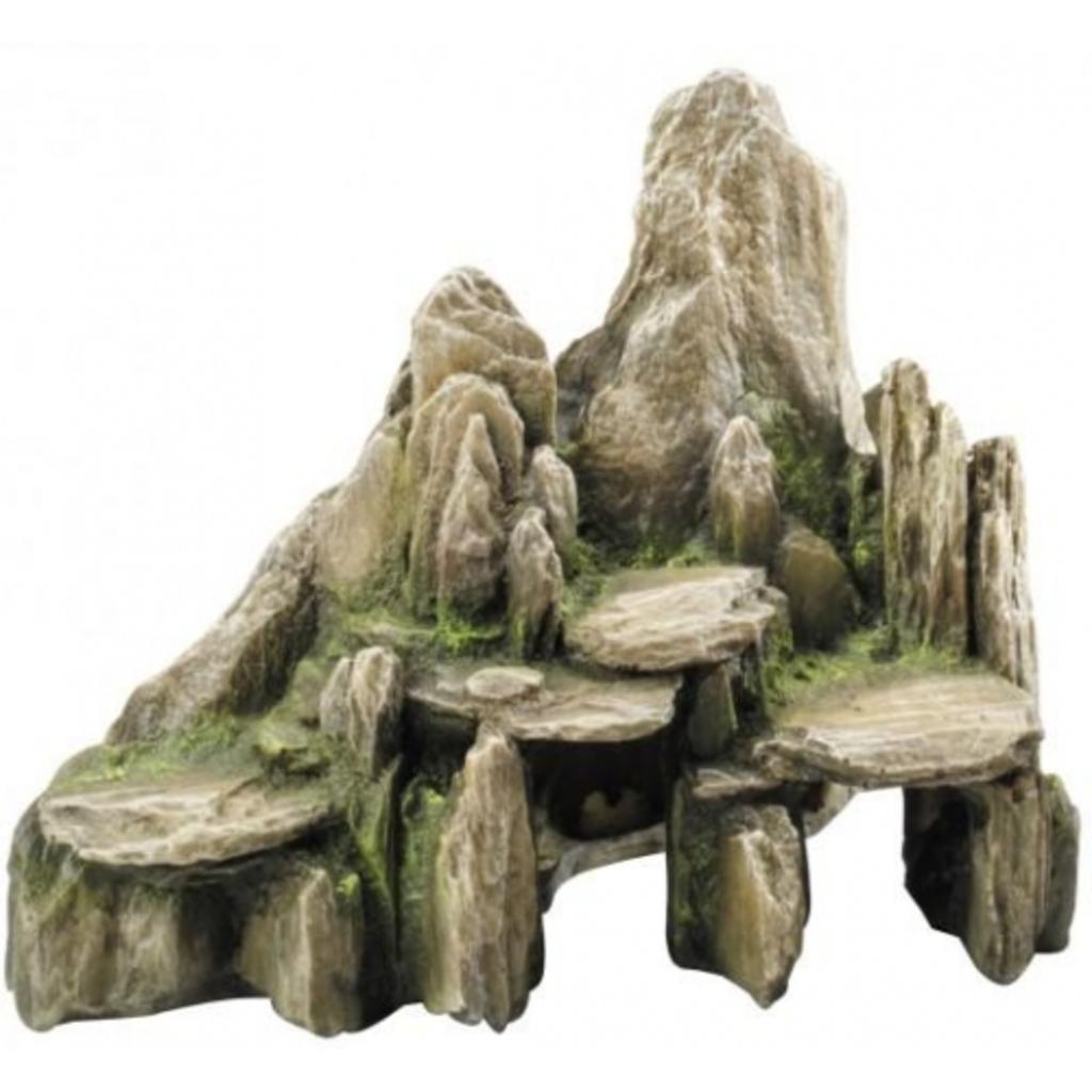 Decor stone moss xl aquarium decoratie for Decoratie aquarium